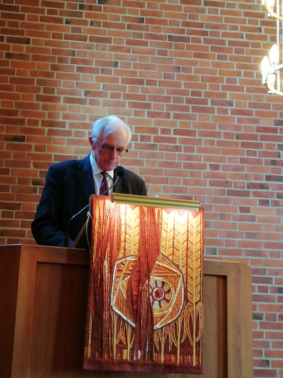 Tore Hägg, Bikon/Borås under sin missionspredikan den 30 september 2018.